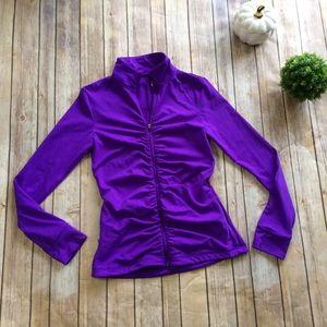 VSX | Full Zip Ruched Purple Jacket